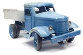 Camión de juguete azul — Foto de Stock