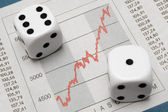 Dice on Chart — Stock Photo