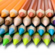 Layered Colored Pencils — Foto Stock