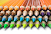 Layered Colored Pencils — Stock Photo