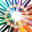 Circle of Crayons — Foto Stock