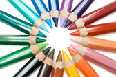 Circle of Crayons — Stock Photo
