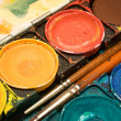 Box of Watercolors Close View — Stock Photo