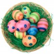 Basket with Colored Eggs — 图库照片
