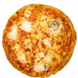 ストック写真: PizzQuattro Formaggi with Clipping Path
