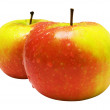 Two Wet Apples with Clipping Path — 图库照片