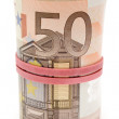 Roll of Euro Bills — Stock Photo