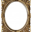 Foto Stock: Ornamented Oval Picture Frame with Clipping Path
