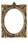 Ornamentada marco oval con trazado de recorte — Foto de Stock