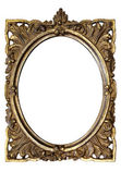 Ornamented Oval Picture Frame with Clipping Path — Photo