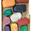 Stock Photo: Dirty Wax Crayons