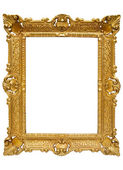 Plastic Golden Picture Frame with Clipping Path — Stock Photo