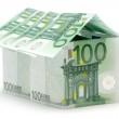 Big One Hundred Euro House — Stock Photo