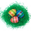 Easter Eggs on Grass - Stock Photo