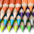 Layered Colored Crayons — Stock Photo