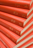 Stacked Red Books — Stock Photo