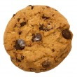 Chocolate Chip Cookie with Clipping Path — Stock Photo