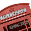 British Phone Box with Clipping Path — Stock Photo