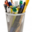 pencil holder — Stock Photo
