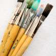 Stock Photo: Bunch of Paint Brushes