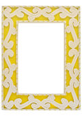 Yellow Picture Frame with Clipping Path — Stock Photo