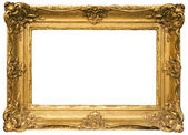 Gold Plated Wooden Picture Frame with Clipping Path — Stock Photo