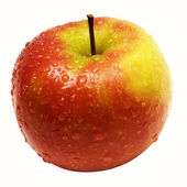 Single Wet Apple with Clipping Path — 图库照片