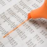 Highlighting Stock Prices — Stock Photo
