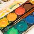 Box of Watercolors — Stock Photo