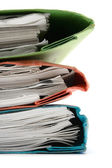 Stack of Colorful Binders Close-Up — Stock Photo