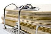 Open File Folder Close-Up — Stock Photo