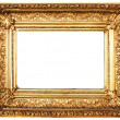 Foto Stock: Ornamented Golden Picture Frame with Clipping Path