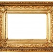 Stok fotoğraf: Ornamented Golden Picture Frame with Clipping Path