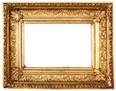 クリッピング パスの黄金額縁を装飾 — ストック写真