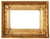 Ornamented Golden Picture Frame with Clipping Path — 图库照片