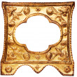 Small Ornamented Golden Picture Frame with Clipping Path — ストック写真