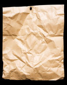 Crumpled Packing Paper with Clipping Path — Stock Photo