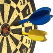 Dartboard with Clipping Path — ストック写真