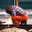 Stock Photo: Construction Worker Welding