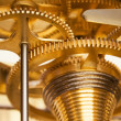 Shiny Golden Clockwork — Stock Photo