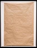 оберточной бумаги на белой доске с обтравочный контур — Стоковое фото