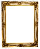 Cadre photo or avec un tracé de détourage — Photo