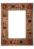 Picture Frame with Colorful Stones with Clipping Path — Stock Photo
