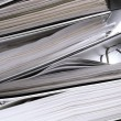 Stock Photo: Stacked Folders Abstract