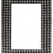 Picture Frame with Metal Balls with Clipping Path — 图库照片