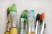 Bunch of Paintbrushes Close-Up — Stock Photo