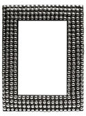 Picture Frame with Metal Balls with Clipping Path — Stock Photo
