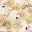 Fifty Euro Banknotes — Stock Photo