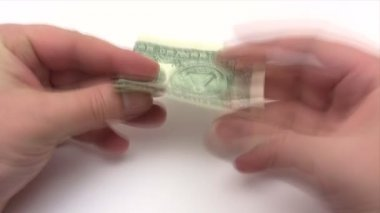 Folding a Dollar Plane - Time Lapse — Video Stock