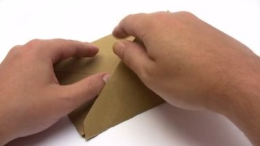 Receber uma carta — Vídeo stock